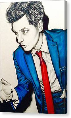 Gerard Way  Canvas Print by Jeszy Arnold