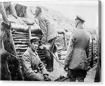 German Trench Canvas Print by Library Of Congress