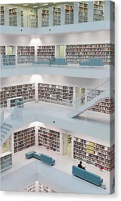 Germany, Baden-wurttemburg, Stuttgart Canvas Print by Walter Bibikow