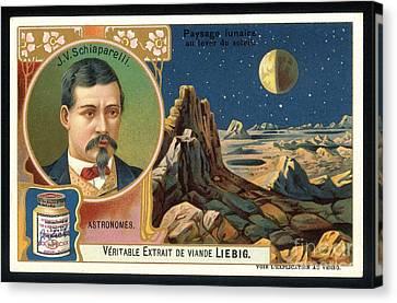 Giovanni Schiaparelli Lunar Advert Canvas Print by Detlev van Ravenswaay
