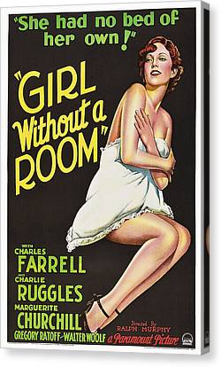 Girl Without A Room, Marguerite Canvas Print by Everett