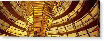 Glass Dome Reichstag Berlin Germany Canvas Print by Panoramic Images