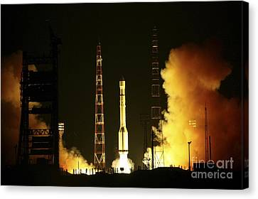 Glonass Satellite Launch, 2010 Canvas Print by RIA Novosti