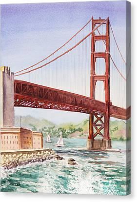 Golden Gate Bridge San Francisco Canvas Print by Irina Sztukowski