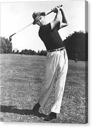 Golfer Sam Snead Canvas Print by Underwood Archives