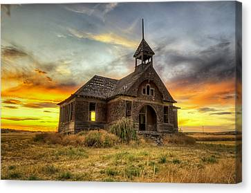 Govan Schoolhouse Canvas Print by Michael Gass