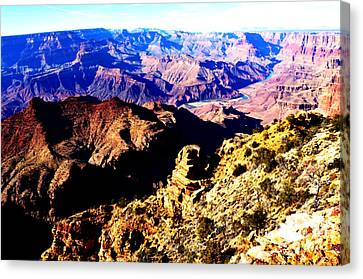 Grand Canyon Eastern Sunset View Vivid Canvas Print by Shawn O'Brien