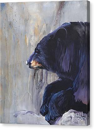 Grandfather Bear Canvas Print by J W Baker