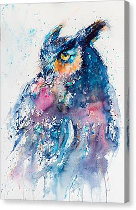 Great Horned Owl Canvas Print by Kovacs Anna Brigitta