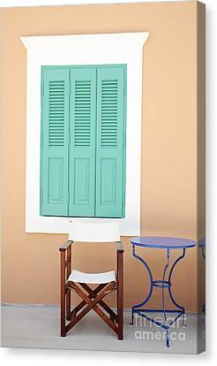 Greek Window Canvas Print by Neil Overy