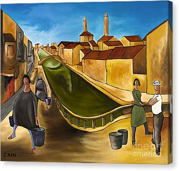 Green Canals  Canvas Print by William Cain