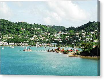 Grenada, St George, View Over Carenage Canvas Print by Anthony Asael