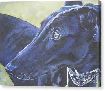 Greyhound Canvas Print by Lee Ann Shepard
