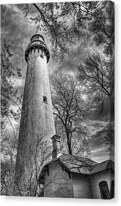 Grosse Point Lighthouse Canvas Print by Scott Norris