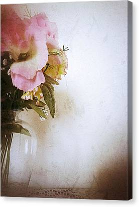 Grunge Flowers 4 Canvas Print by Isabella Abbie Shores