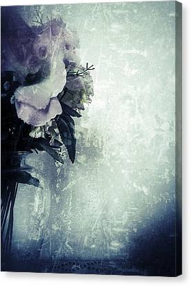 Grunge Flowers 2 Canvas Print by Isabella Abbie Shores