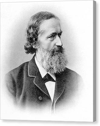 Gustav Kirchhoff Canvas Print by Emilio Segre Visual Archives, Brittle Books Collection/american Institute Of Physics