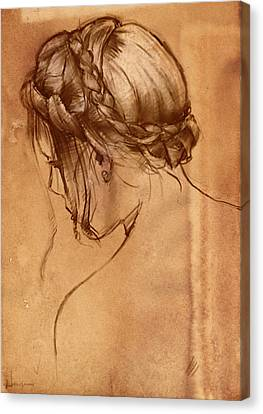 Hair Study Canvas Print by H James Hoff