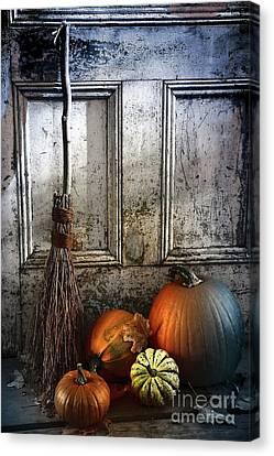 Halloween Night Canvas Print by Sandra Cunningham