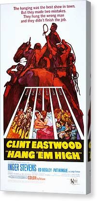 Hang Em High, Clint Eastwood, 1968 Canvas Print by Everett