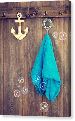 Hanging Towel Canvas Print by Amanda And Christopher Elwell