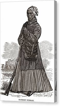 Harriet Tubman, American Abolitionist Canvas Print by Photo Researchers