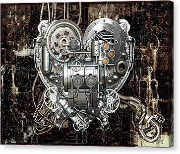 Heart Canvas Print by Diuno Ashlee