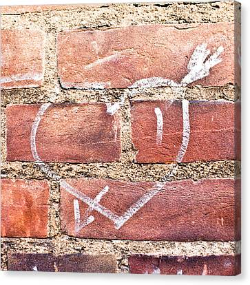 Heart Graffiti Canvas Print by Tom Gowanlock