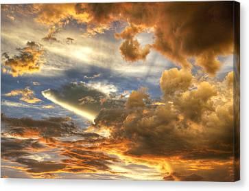 Heavenly Skies  Canvas Print by Saija  Lehtonen