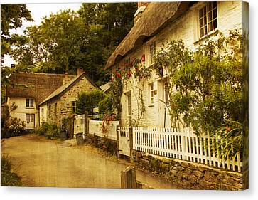 Helford Cottages Canvas Print by Brian Roscorla