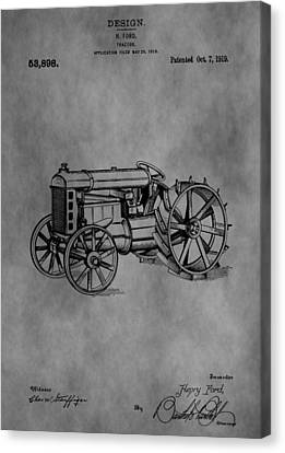 Henry Ford Tractor Patent Canvas Print by Dan Sproul