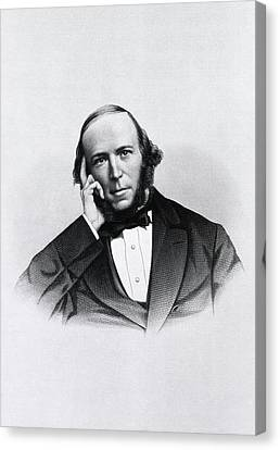 Herbert Spencer Canvas Print by National Library Of Medicine