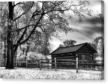 Hermitage Cabin Canvas Print by Jeff Holbrook