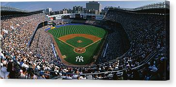 High Angle View Of A Baseball Stadium Canvas Print by Panoramic Images