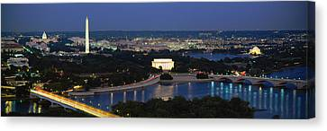 High Angle View Of A City, Washington Canvas Print by Panoramic Images