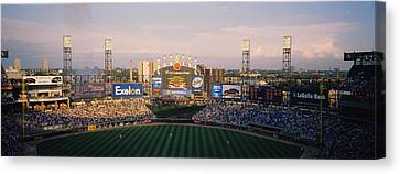 High Angle View Of Spectators Canvas Print by Panoramic Images