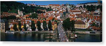 High Angle View Of Tourists Canvas Print by Panoramic Images