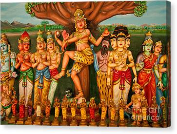 Hindu God Canvas Print by Niphon Chanthana