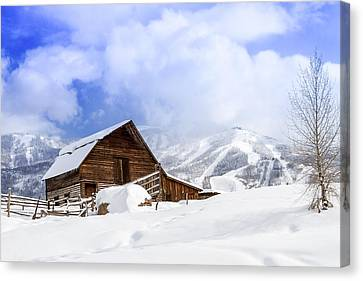 Historic Steamboat Springs Barn Canvas Print by Teri Virbickis