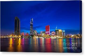 Ho Chi Minh City Night Skyline Canvas Print by Fototrav Print