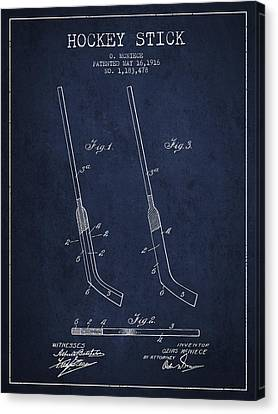 Hockey Stick Patent Drawing From 1916 Canvas Print by Aged Pixel