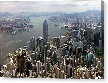 Hong Kong Central From Above Canvas Print by Lars Ruecker