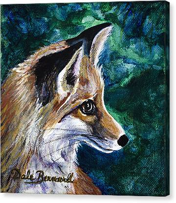 Hopeful Fox Canvas Print by Dale Bernard