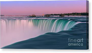 Horseshoe Falls Is A Part Of The Niagara Falls Canvas Print by Henk Meijer Photography