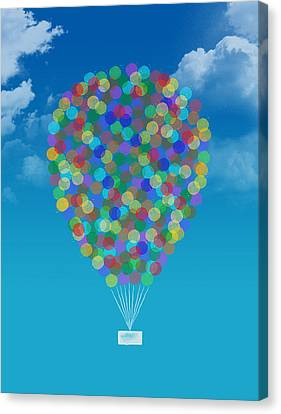 Hot Air Balloon Canvas Print by Aged Pixel