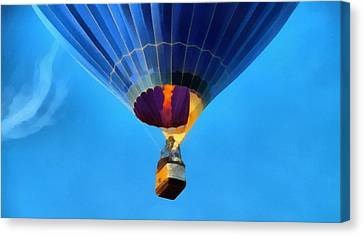 Hot Air Balloon Taking Off Canvas Print by Dan Sproul