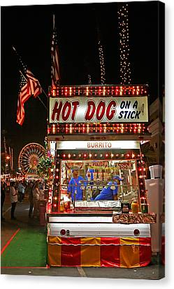 Hot Dog On A Stick Canvas Print by Peter Tellone