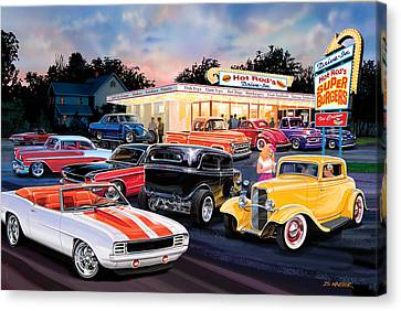 Hot Rod Drive In Canvas Print by Bruce Kaiser