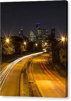 Houston Nights Canvas Print by David Morefield