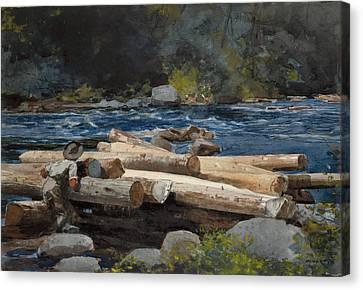 Hudson River Canvas Print by Winslow Homer